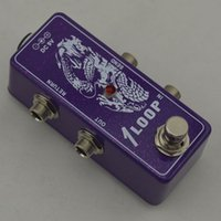 Wholesale True Bypass Looper Effect Pedal electric Guitarra Effect Pedal Looper Switch guitar pedal Mini Light Flash purple Loop switches