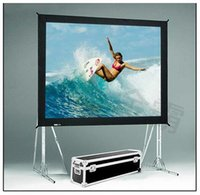 Wholesale Hot selling inch format Fast Quick Fold Projector screen for many size front and rear projection screen