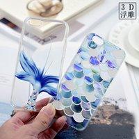Cheap Beautiful Mermaid Scales Fish Ultra Thin Soft TPU Phone Case Coque For Apple iphone 6 6s Plus   Galaxy S7edge Rubber Funda Cover