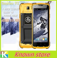 Wholesale Original GUOPHONE V12 waterproof shockproof phone inch Android G GPS MTK6572 Dual Core GHZ MP mAh Cell phones DHL