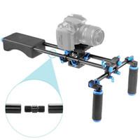 Dslr rigs Sistema portátil de FilmMaker con control deslizante de montaje de cámara, almohadilla de hombro de goma suave y manija de doble mano para todas las videocámaras DSLR DV