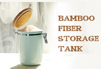 Wholesale fBamboo fiber food storage tank new technology biodegradable Ecoriendly healthy milk powder pots tea cans cookie jars Food grade ml