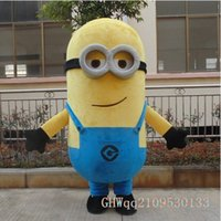 Wholesale 2014 New Style Cartoon Mascot costume EPE Minion Mascot Costume Despicable Me Mascot Costume