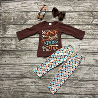 boutique clothes - girls thanksgiving outfit kids Fall clothes girls be BRAVE be STRONG be You clothing children boutique outfits with accessories