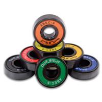 Wholesale 8pcs Colorfull Skate Wheel Bearing Skateboard Accessories Roller bearings Fancy Longboard Skateboard Parts