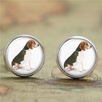 beagle gifts - 10pairs Beagle earrings Sitting cute dog print Photo Dog earrings