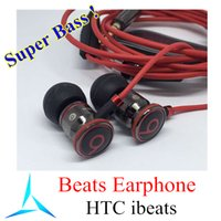 Wholesale Super Bass Beats ibeats Earphones With ControlTalk From Monster HTC Noise Cancelling Earbud Earbuds For iPhone Used Refurbished