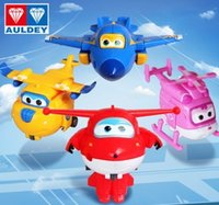 airplane baby gifts - 4pcs set Super Wings toys Mini Planes Model Transformation Airplane Robot Action Figures Robo car poli figure toys for baby Gifts B4180
