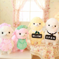 alpaca shop - 2015 New cm kinds Kawaii Japan Amuse Alpacasso Coffee Shop Waiter Alpaca Plush Horse Soft Toys for Children