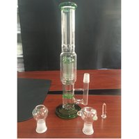 armed cheap - Newest Popular Cheap MM Height Honeycomb ablets Filter Arm Perk Green Glass Water Pipes Hookahs with Glass Nail Glass Bowl Glass Bong