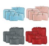 Wholesale Multicolor X Set Travel Storage Bag Luggage Clothes Tidy Organizer Pouch Polyester Suitcase Handbag Case