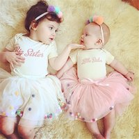 Wholesale INS explosion models wild colored balls veil princess dress baby girl skirt years