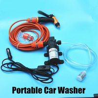 Wholesale DC V Electric W High Pressure Portable Car Washer Washing Machine Car Wash Washing Pump Tool Kit Free Gift