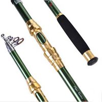 Wholesale Green Gold m Casting Fly Fishing Rod Fish Reel Carbon Telescopic Spinning Ice Rods Fishing Pole Tackles Gear Accessories