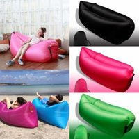 Wholesale 2017 Fast Inflatable Sofa Sleeping Bag Outdoor Air Sleep Sofa Couch Portable Furniture Sleeping Hangout Lounger Inflate Air Bed Imitate