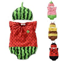 bee romper - New summer INS Hot newborn baby clothes watermelon strawberry bee romper boys girls rompers baby jumpsuits