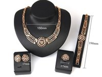 Cheap African wedding jewelry sets High quality 18k gold plated Hollow out bridal costume jewelry set