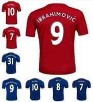 Wholesale New Home Red DIY United Rooney MARTIAL IBRAHIMOVIC MEMPHIS SCHWEINSTEIGER Soccer Jersey football Shirt