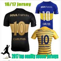 Wholesale Boca Juniors jersey Season Maillot de Foot BOCA Argentina GAGO ROMAN Carlitos Tevez Maglia Osvaldo Camisa Camiseta de Futbol