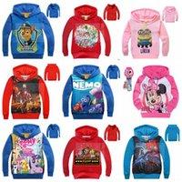 Wholesale 108 Color Kids Avengers Frozen Jacket Poke Minions Coat Mickey TMNT Hoodies Nemo Jumper Spiderman Outwear Paw Dog Sweatshirts Pullover B601