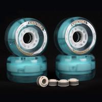 Wholesale 1 Pair TWOLIONS A x44mm LED Flash Skates Wheels For Drift Skates Board