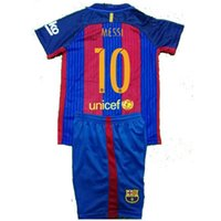 Wholesale 2016 Barcelonaes Kids shorts Best Quality Customized Home Away Jersey Camiseta de Neymar JR Messi Suarez