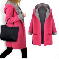 big fats - Fall new high end big yards in Europe and the female fat MM cloth loose cardigan coat in the long hooded fleece