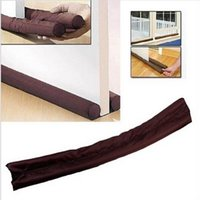 Wholesale Fashion Original Brown cm Twin Draft Guard Door Stopper Dual Draught Air Windows Dodger Protector Stopper Energy Saving