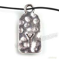 air letter post - Hot Sale Zinc Alloy Letter Y Silver Plated Pendants Jewelry mm by china Post Air Mail