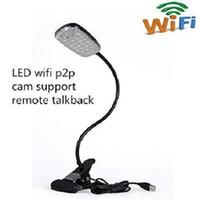 Wholesale Wireless Hidden Spy Camera HD1080P Wifi Remote Control Intelligent Fashion Design LED Table Lamp Motion Detection IP Camera