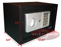 Wholesale NEW DIGITAL ELECTRONIC SAFE SECURITY BOX WALL JEWELRY GUN CASH BLACK MEDIUM SZE