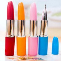 Wholesale High Quality Lipstick Shape Gel Pens Ball Point Pens Signing Pen Writing Supplies Papelaria