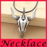 big ox - Europe and the United States big cow big pendant Ox demon king titanium steel man necklace Fashion forward men s accessories