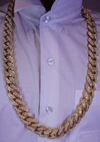 Wholesale 100 Carats Diamond Kilo Solid Yellow Gold Miami Cuban Link Chain MM ASAAR
