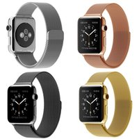 Wholesale Apple Watch link Band Milanese Loop Stainless Steel Mesh Replacement Wrist Strap with Magnetic Metal Connectors for Apple Watch mm mm