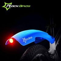 Wholesale ROCKBROS Mountain MTB Bike Fender Back Light Mudguard Front Rear Quick Release Cycling Bicycle Fenders Rack Mud Guard K6169