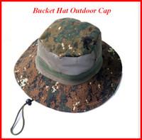 amazon jungle - Bucket Hat Outdoor Cap climbing fishing Camo Ben Nepal Hat Amazon jungle camping sunscreen Manufacturers ouc003