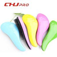 Wholesale 2016 luxury beauty portable anti static brush smooth TT professional salon hair massage comb