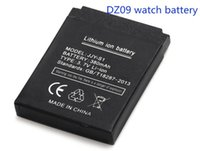 Cheap atteries Rechargeable Batteries Free shipping 100% High Quality 1pcs Battery for DZ09 smart watch mobile phone battery 380 mAh battery wa...