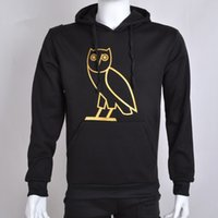 Wholesale Golden Owl Hoodies Streetwear Mens Hip Hop Hooded Pullover Drake Print high quality hoodie sweatshirt Size M XXL