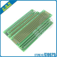 Wholesale 4pcs x8 x7 x6 x7 cm Double Side Copper Prototype Pcb Universal Board For Ardui
