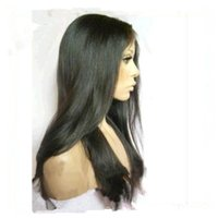 Wholesale Discount price human hair front lace wigs full lace wigs straight natual color peruvian hair wigs