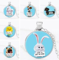 Wholesale 2016 NEW styles The Secret Life of Pets Time gemstone Pendant Necklace cartoon Animal Pets Jewelry Valentine s Day Jewelry FT
