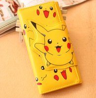 Wholesale 2016 cartoon long wallet animal mouse wallet fashion cute Pikachu magnet wallet units for sales A092720
