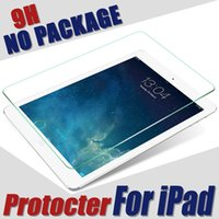 Wholesale Tempered Glass film Screen Protector For iPad Air Air For iPad Mini For ipad Pro quot MM NO package protective film