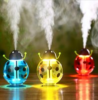 Wholesale USB Humidifier mini portable humidifier Car humidifier beetle Air Diffuser Mist Maker Purifier Mini Cartoon Bottle Humidifier LJJK529