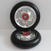 Wholesale Solid Aluminum Stunt Scooter Wheels Scooter Wheels including ABEC bearings X24MM88A