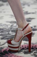 angels platform sandal - Sky High Platform Sandals Rivets Cool Angel Leather Women Pumps Stripe High Heels Ladies Stiletto Sexy T Strap Sandalias Mujer