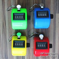 Wholesale 4 Colored Hand mechanical counter Stationery Tally counter tasbih Frequency counter people counter Lap timer
