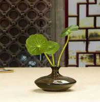 antique vases - Mini Ceramic Vase Mini Desktop Decorative Bottle Chinese Antique Vase Fambe Ceramic Vase Flower Pots for Party Table Decoration